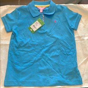 Lilly Pulitzer polo. NWT size 8. Blue. Gorgeous